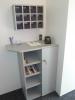 Kleiner Empfangsbereich, für Informationen und Zimmerschlüssel, im Aparthotel in der Gartenstadt
