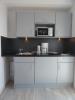 Eine der 13 Küchenzeilen im Aparthotel, in der Gartenstadt.